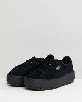 Puma Platform Black Trainers
