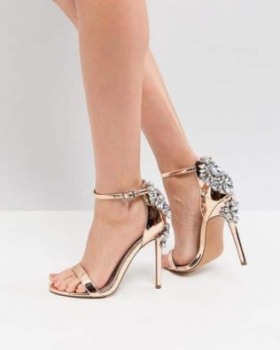 Embellished Heeled Sandals