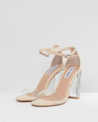Clear Block Heeled Sandals